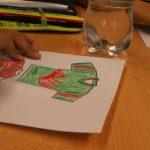 Die Wilden Gudi-Has gestalten ihr Trikot, Workshop in Immenreuth mit Michaela Hanauer
