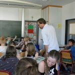 Klasse 5c vom JvFG beim Workshop mit Knut Krüger