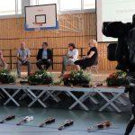 Talkrunde mit Julien Wolff, Manfred Lehner, Jürgen Pfau, Michael Horeni und Dr. Claudia Maria Pecher (v.l.n.r.)