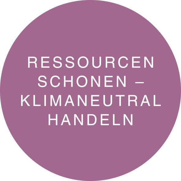 RESSOURCEN SCHONEN - KLIMANEUTRAL HANDELN