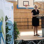 Dr. Claudia Maria Pecher eröffnet mit einem Grußwort den sechsten Lese-Kick
