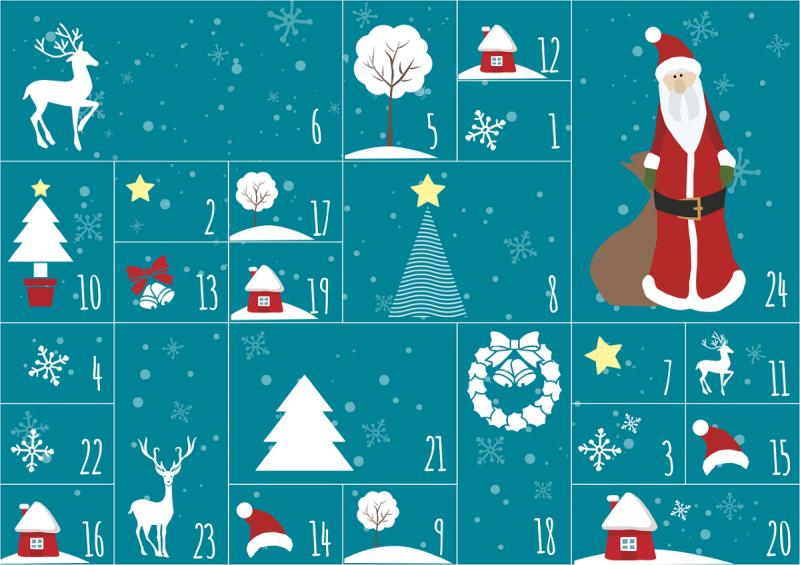 Literarischer Adventskalender 2019 (Grafik: Pixaline auf Pixabay)