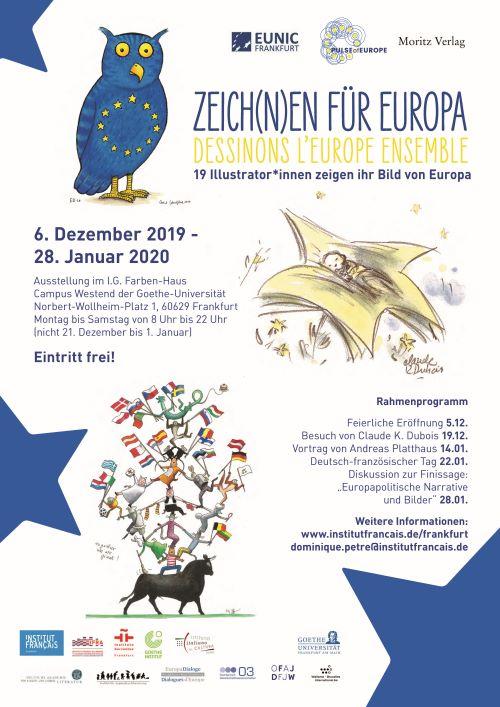 Plakat 'Zeich(n)en für Europa'_