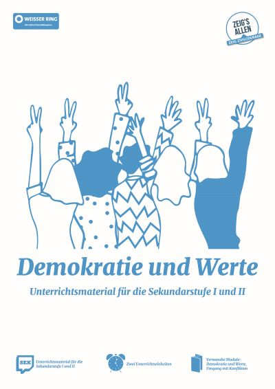 """WEISSER RING: Schulmaterial """"Demokratie und Werte"""" (2020)"""