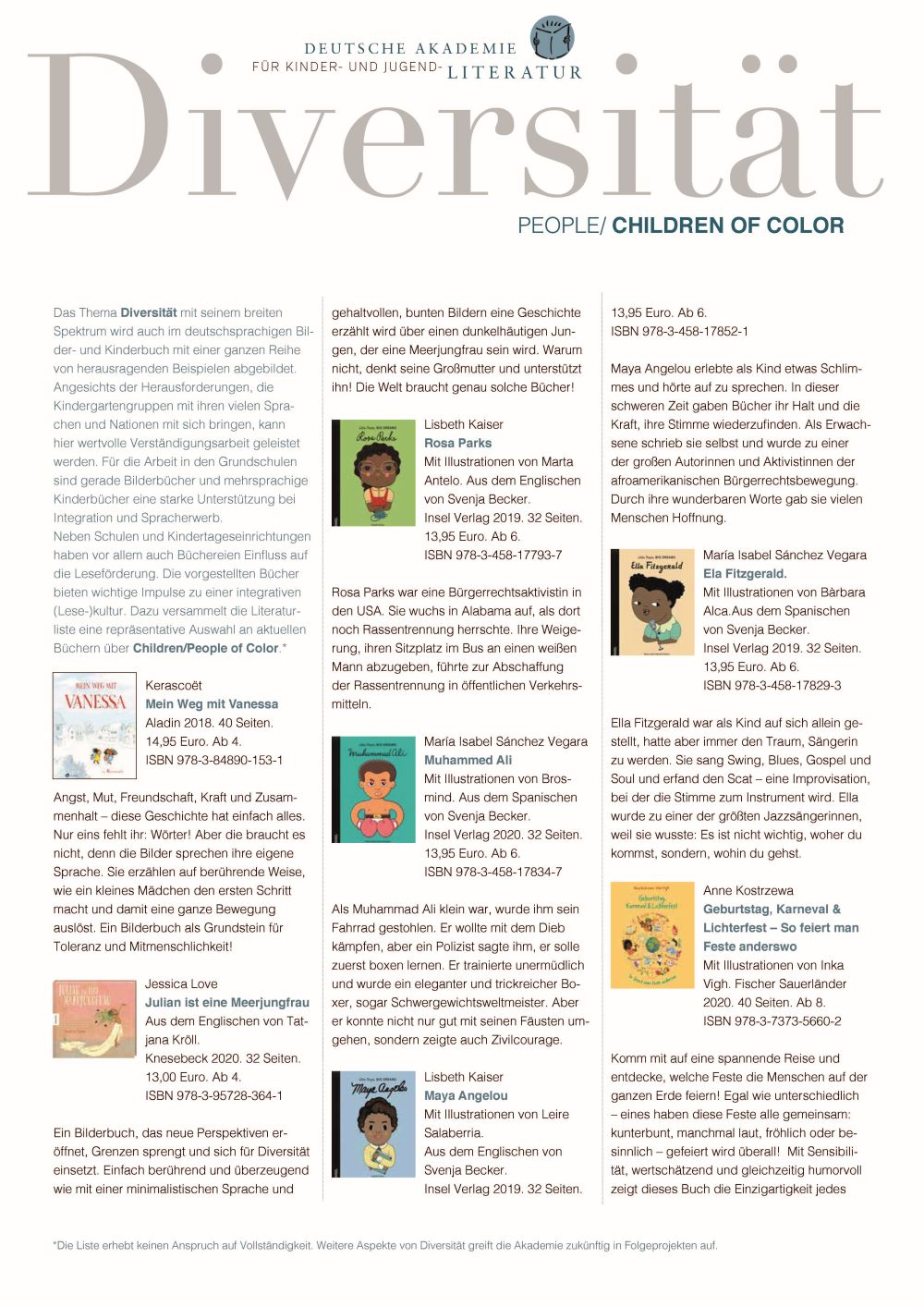 "Faltblatt ""Diversität: People/Children of Color"" 1 (05/2020)"