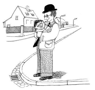"Illustration: ""Sams und Herr Taschenbier"", © Paul Maar/Verlagsgruppe Oetinger"