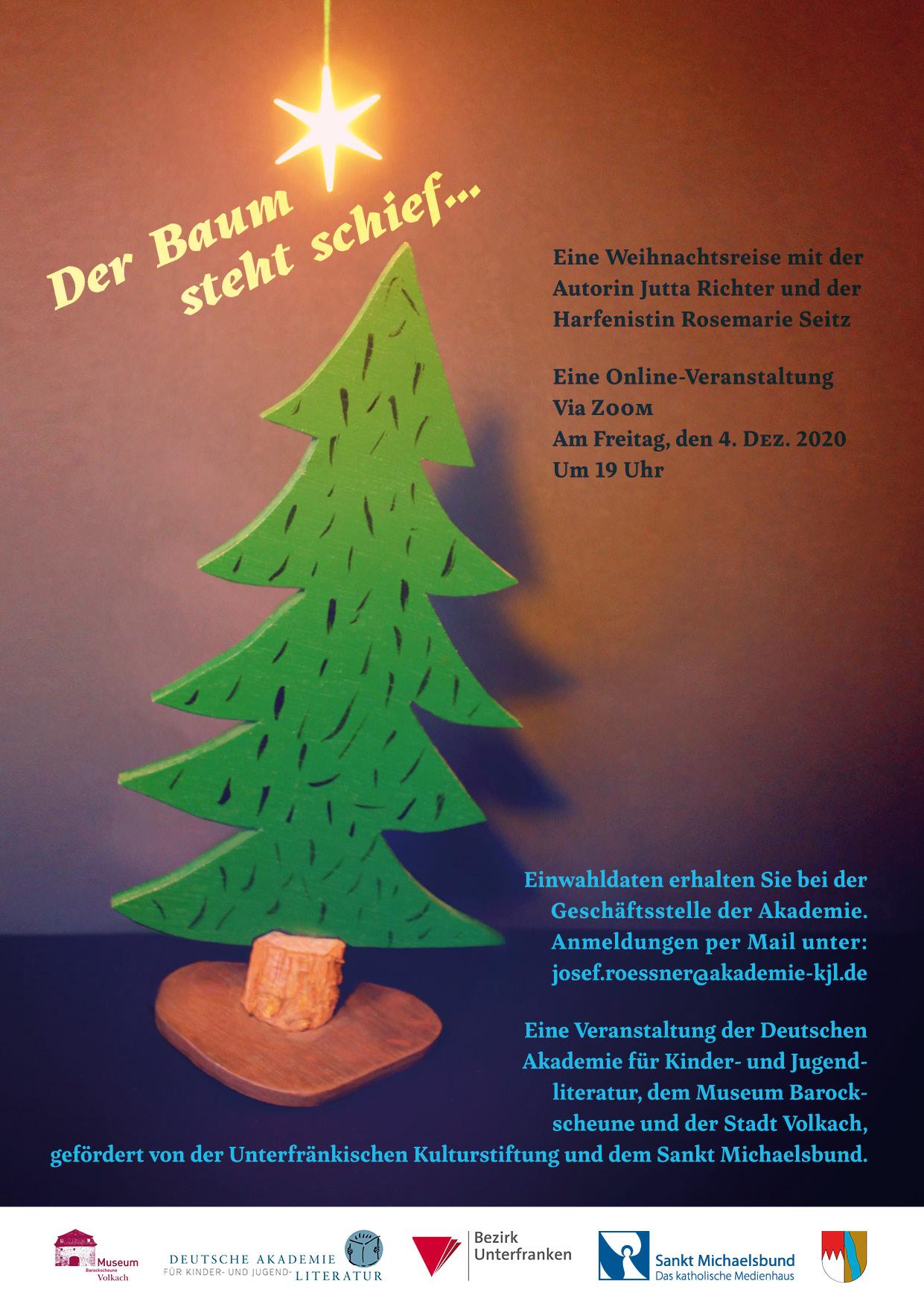 Der Baum steht schief ... eine Weihnachtsreise mit Jutta Richter und Rosemarie Seitz