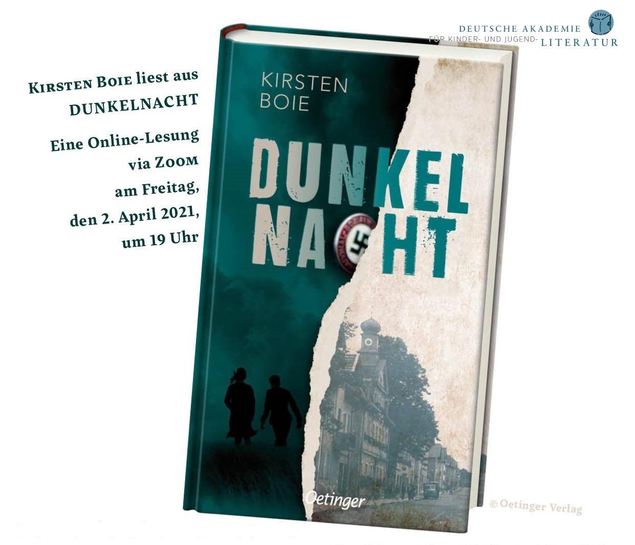"""Online-Lesung mit Kirsten Boie """"Dunkelnacht"""" (02.04.2021)"""