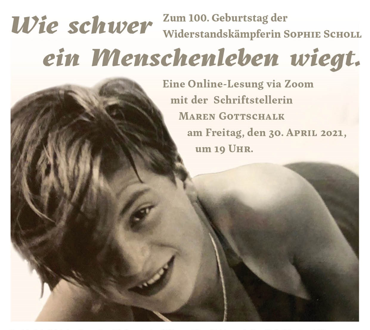 "Lesung ""Sophie Scholl"" (30.04.2021)"