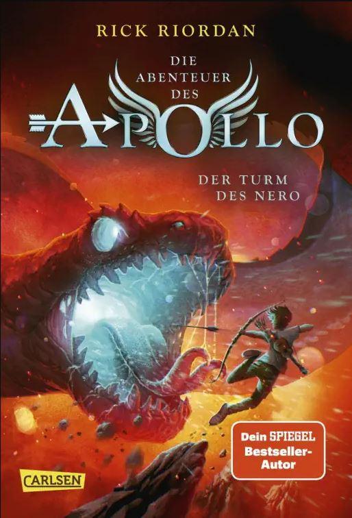 Riordan: Apollo 5: Der Turm des Nero (Carlsen 2021)