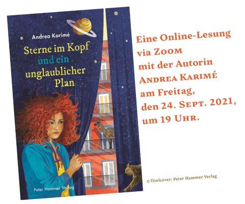 Online-Lesung mit Andrea Karimé (24.09.2021)