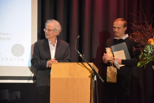 Paul Maar und KORBINIAN-Preisträger 2021 Martin Dolejš (Foto: Christine Paxmann)